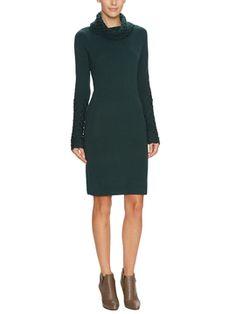 Ultra-Soft Wool Turtleneck Sweater Dress from Wardrobe Staple: The Sweater Dress on Gilt