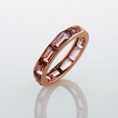 Elea Diamanti Jewelry Tourmaline Ring, Rose Gold www.eleadiamanti.com