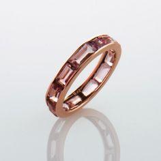 Elea Diamanti Jewelry Tourmaline Ring, Rose Gold www.eleadiamanti.com