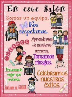 Classroom Norms, Dual Language Classroom, Classroom Expectations, Superhero Classroom, Bilingual Classroom, Classroom Board, Kindergarten Classroom, Bilingual Education, Classroom Ideas