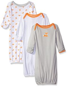 Luvable Friends Baby 3 Pack Rib Infant Gowns, Gray/Orange... https://www.amazon.com/dp/B00V93X84M/ref=cm_sw_r_pi_dp_x_P5nVxbZ0Z343T