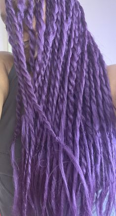 Long Purple Twists Violet Hair Colors, Shades Of Violet, Purple Reign, Twists, Fashion, Chunky Twists, Moda, Fashion Styles, Braids