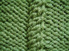 free knitting pattern - twisting cable stitch