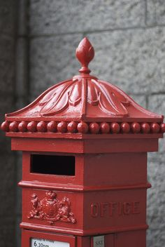 "A ""post box"" in London, England England And Scotland, England Uk, London England, Junk Mail, Post Box Red, Post Bus, You've Got Mail, London Calling, British Isles"
