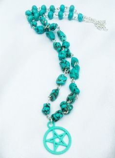 Turquoise Pentacle via Bex's Pretties. Click on the image to see more!