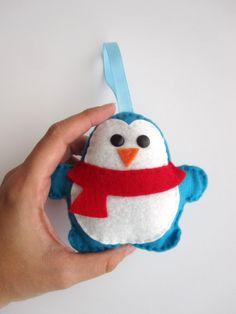 Felt Penguin Christmas Ornament