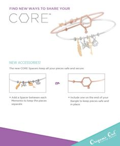 Spacers for your Core bangles from origami owl