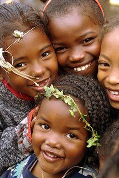 Girls from Madagascar, Africa