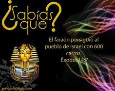 #SabiasQue el faraon persiguió al pueblo de #Israel con 600 caros. #Exodo 14:7 www.enlacejudio.com
