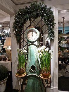 @Treillage Swedish clock with paperwhites