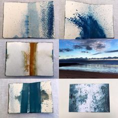 Throw back to last year-love the blue. #art #oilonpaper #artist #notebook #blue #photography #colour #seascape #artreview #archive #2017art