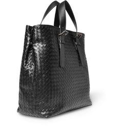 44a5f09b3e4e Bottega Veneta Intrecciato Leather Tote Bag Leather Briefcase
