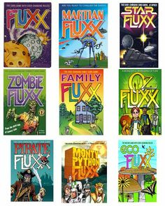 Looking for a quick and easy card game? Fluxx is an exciting card game for ages 8+ where the rules and goals are constantly changing! Try it in any of these themes! Come and pick one up today! http://www.gryphongamesandcomics.com