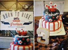Motorcycle Themed Birthday Party - for Mase!