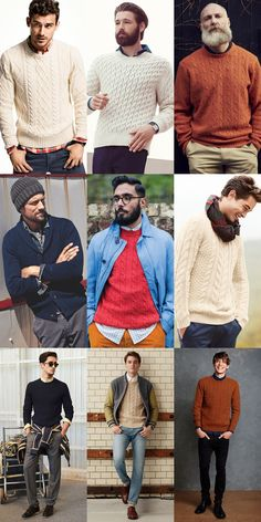Men's Cable Knit Lookbook Outfit Inspiration