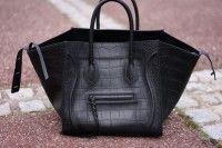 Celine Croc Phantom Bag with no front logo