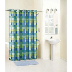 Mainstays Checkmate Fabric Hookless Curtain