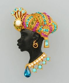 "Askew London Brooch ""blackamoor"""