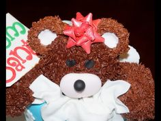 Cake decorating - how to make a fondant gift bow - YouTube