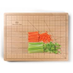 Funny cutting board for those with OCD.  Now all your veggies can be exactly the same size!