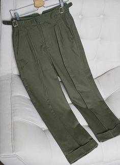 Military Chino Staight Taper Ankle Length Casual Pants – Benovafashion Casual Pants, Khaki Pants, Harem Shorts, Military Fashion, Military Style, Army Men, Bespoke Tailoring, Jogger Pants, Ankle Length