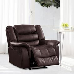 @Overstock - Casanova Brown Bonded Leather Reclining Chair. This Casanova bonded leather reclining chair features a plush form fill and brown leather finish. This chair offers full recline for the ultimate in comfort and style.   http://www.overstock.com/Home-Garden/Casanova-Brown-Bonded-Leather-Reclining-Chair/6581230/product.html?CID=214117 $379.99