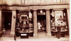 Stilings the Chemist, now Austins Dash department in Newton Abbot, Devon, in 1931 Newton Abbot, Chemist, Devon, Store, Larger, Shop