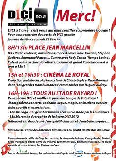 GAP - Anniversaire DICI Radio - Animations, Concerts, cadeaux - Place Jean Marcellin, Cinéma Le Royal, Stade Bayard