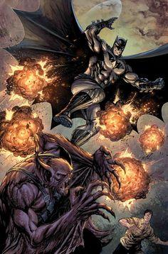 Batman vs Manbat - Tyler Kirkham