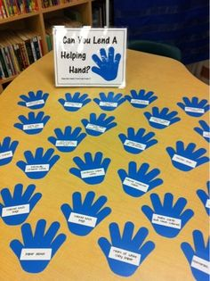 Great idea for back to school night! Hands are labeled with things that can be donated to the classroom by parents. Great idea for open house. Back To School Night, 1st Day Of School, Beginning Of The School Year, Too Cool For School, School Fun, School Ideas, School Stuff, School Teacher, Kindergarten Classroom