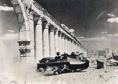 Universal Carrier of the Arab & Commonwealth forces charging through Palmyra in 1941
