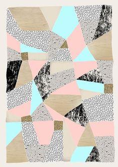 Geo Lights Art Print by Lou  the twin