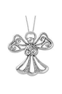 Angel of Kindness Sterling Silver Pendant $100.00 http://www.celebrateyourfaith.com/Angel-of-Kindness-Sterling-Silver-Pendant-P13232C1076.cfm