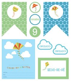 Festa para imprimir: tema pipa - Constance Zahn | Babies & Kids