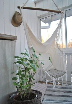 Swinging hammock chair. with a book in hand ...yep