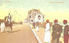 Constanta - Cazinoul - antebelica Western Coast, Black Sea, Old City, Vintage Photographs, Postcards, Places To Go, Old Things, Photoshop, Painting