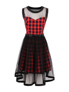Try latest Rosetic Black and.... http://chicloth.com/products/rosetic-black-and-red-plaid-lace-round-neck-a-line-dress?utm_campaign=social_autopilot&utm_source=pin&utm_medium=pin