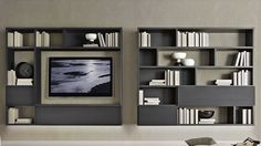 Decorate with your TV – Typical Miracle Tv Wall Design, Wall Shelves Design, House Design, Tv Panel, Tv Wall Decor, Wall Bookshelves, Tv Shelf, Chevy Chase, Bluetooth Speakers