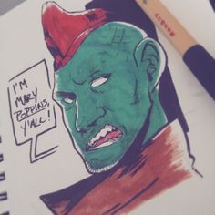 hey i'm bnie don't repost my art thanks — i love my beautiful dad Marvel Heroes, Marvel Dc, Marvel Comics, Yondu Udonta, Marvel Tumblr, Michael Rooker, Panda Art, Marvel Funny, Guardians Of The Galaxy
