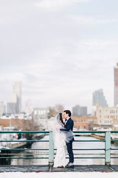 Post-Blizzard Wedding in Gowanus - Photos by Joseph Lin Photography / Invitations & Day-of Stationery by Fourteen-Forty / Ceremony & After Party at #501Union / Reception at #TheGreenBuilding #fourteenforty #1440nyc #weddinginvitations #invitations #copper #copperfoil #waxseal #calligraphy