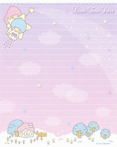 "Sanrio Little Twin Stars ""Variety"" Letter Set Hello Kitty My Melody, Sanrio Hello Kitty, Sanrio Wallpaper, Kawaii Wallpaper, Memo Notepad, Kawaii Stationery, Letter Set, Aesthetic Stickers, Little Twin Stars"