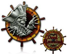 Pirates of Idylwood Geocoin Black Nickel / Silber