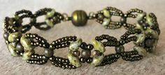 Linda's Crafty Inspirations: Bracelet of the Day: Another Nouveau SuperDuo Chain