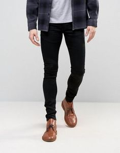 ASOS Extreme Super Skinny Jeans In Black