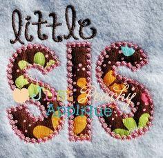 Little Sis Candlewick Applique Design