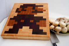 8 Bit Mario Cutting board.