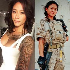 The Best Fat-Loss Workout of All Time What is the quickest way to shed weight, build lean muscle, and reveal a toned and sexy physique? The answer is simpl. Female Army Soldier, Military Girl, Military Women, Girls Uniforms, Badass Women, Up Girl, Asian Woman, Beautiful Women, Beautiful Body