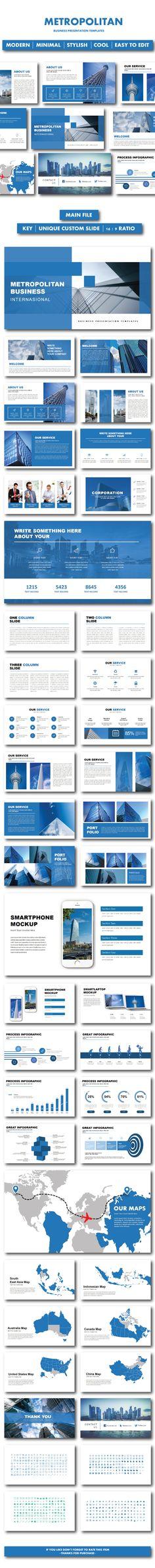 #Metropolitan Business Keynote Templates - #Keynote Templates Presentation Templates