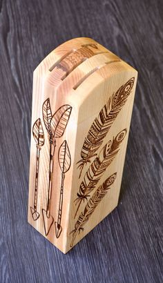 Hey, I found this really awesome Etsy listing at https://www.etsy.com/listing/234737815/engraved-knife-block-holder-native