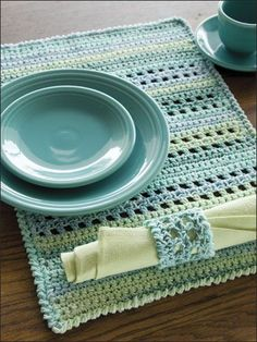 Crochet - Kitchen Patterns - Table Toppers - Pacific Place Setting ✿⊱╮Teresa Restegui http://www.pinterest.com/teretegui/✿⊱╮